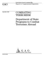 Combating terrorism Department of State programs to combat terrorism abroad  PDF