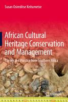 African Cultural Heritage Conservation and Management PDF