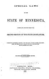 General Laws of the State of Minnesota: Volume 2