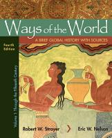Ways of the World with Sources  Volume 1 PDF