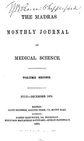 The Madras Monthly Journal of Medical Science PDF