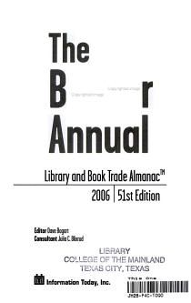 The Bowker Annual PDF