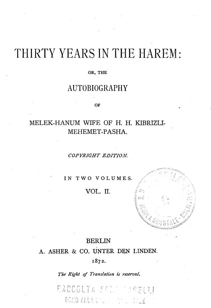 The *autobiography of Melek-Hanum