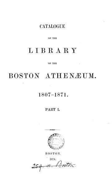 Catalogue ... 1807-1871