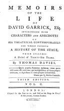 Memoirs of the Life of David Garrick, Esq