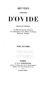 Œuvres complètes d'Ovide: Volume9