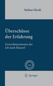 Überschüsse der Erfahrung: Grenzdimensionen des Ich nach Husserl