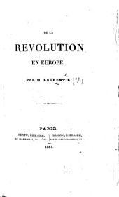 De la Révolution en Europe