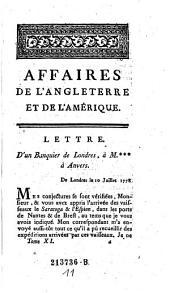 Affaires De L'Angleterre Et De L'Amerique: Volume11