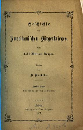 Geschichte des Amerikanischen B  rgerkrieges PDF