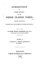 Introductions to the Study of the Greek Classic Poets: Designed Principally for the Use of Young Persons at School and College