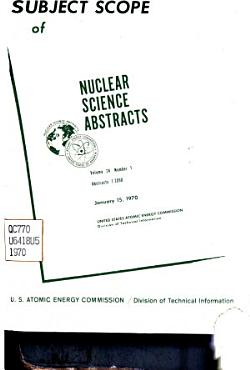 Subject Scope of Nuclear Science Abstracts PDF