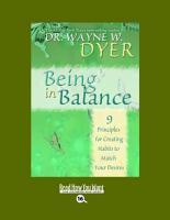 Being in Balance PDF