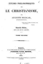 Études philosophiques sur le christianisme: Volume2