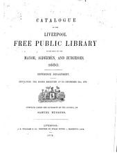 Catalogue of the Liverpool Free Public Library PDF