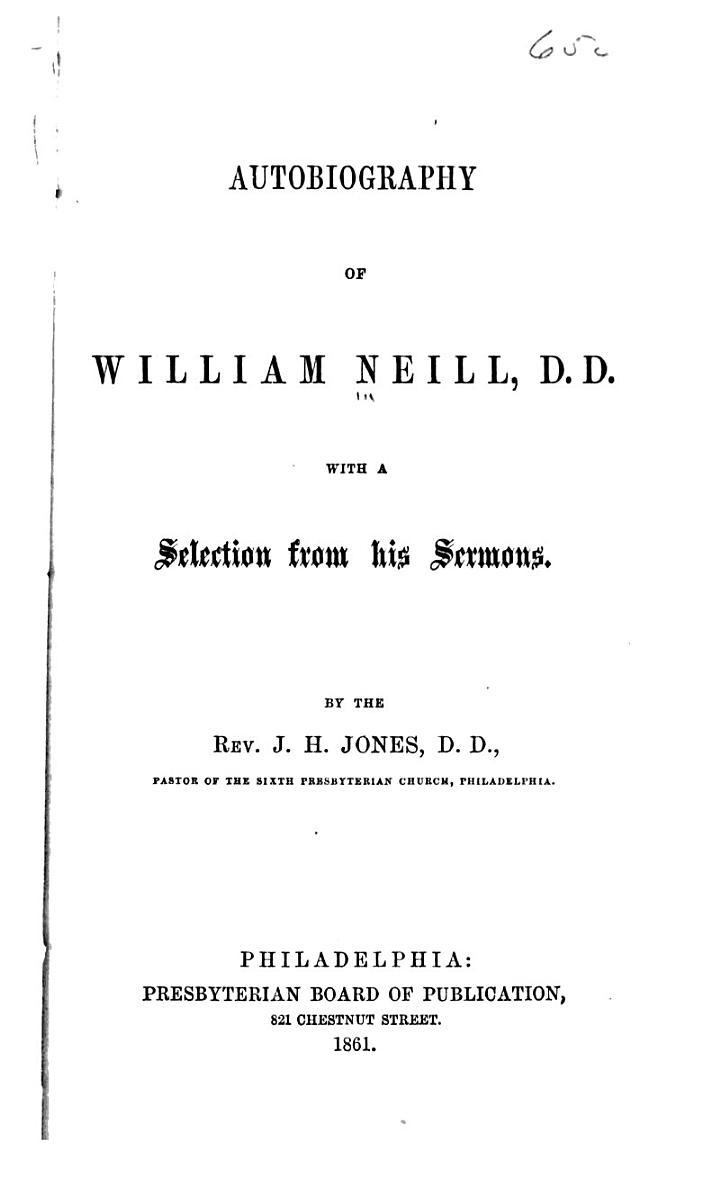 Autobiography of William Neill