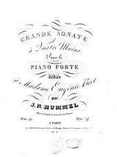 Grande sonate à quatre mains pour le piano forte: oeuv. 92