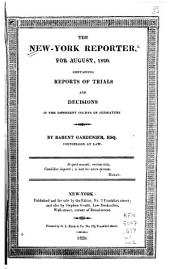 The New-York Reporter: Containing Reports of Trials and Decisions in the Different Courts of Judicature, Volume 1, Issue 2