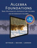 Mymathlab for Bittinger Algebra Foundations