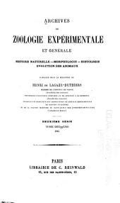 Archives de zoologie expérimentale et générale