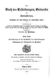 Das Buch der erfindungen: bd. Einführung in die geschichte der erfindungen. Bildungsgang und bildungsmittel der menschheit