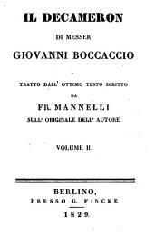 Il Decameron di Messer Giovanni Boccaccio: Volume 2