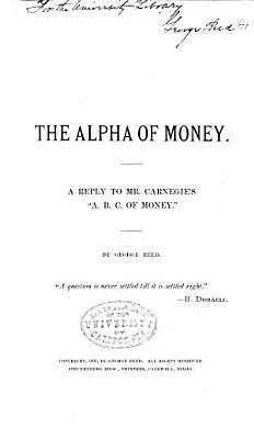 The Alpha of Money PDF