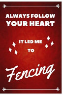 Fencing Notebook Red Cover