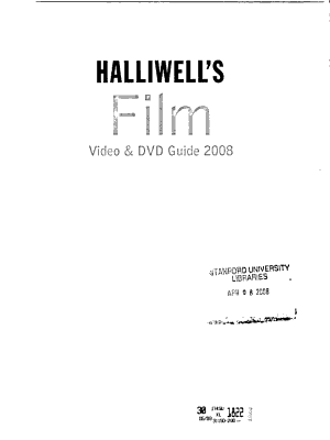 Halliwell s Film  Video   DVD Guide PDF