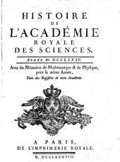 Histoire de l'Académie Royale des Sciences: avec les mémoires de mathématique et de physique pour la même année : tirés des registres de cette Académie. 1785 (1788)
