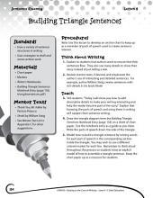 Writing Lesson Level 4--Building Triangle Sentences