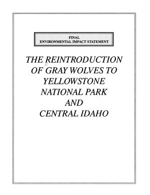 The Reintroduction of Gray Wolves to Yellowstone National Park and Central Idaho