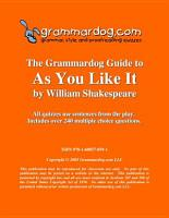 Grammardog Guide to As You Like It PDF