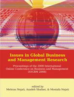 Issues in Global Business and Management Research  Proceedings of the 2008 International Online Conference on Business and Management  IOCBM 2008  PDF