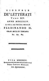 Giornale de' letterati: Volumi 95-96