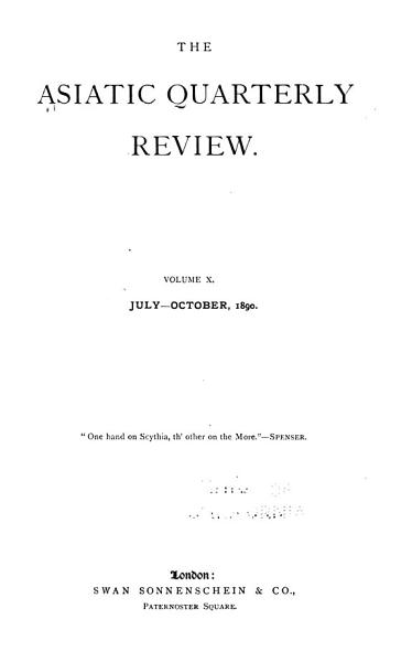 Download The Asiatic Quarterly Review Book