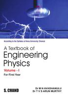 A Textbook of Engineering Physics  Volume I  For 1st Year of Anna University  PDF