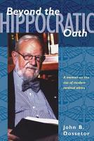 Beyond the Hippocratic Oath PDF
