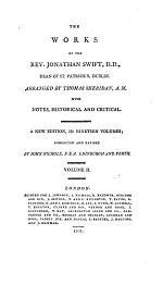 The Works of the Rev. Jonathan Swift, D.D., Dean of St. Patrick's, Dublin