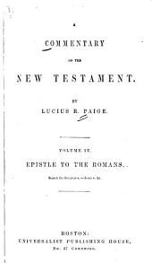 A Commentary on the New Testament: Volume 4