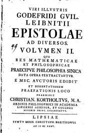 Quo Res Mathematicae Et Philosophicae Praecipue Philosophia Sinica Data Opera Pertractantur: Volume 2