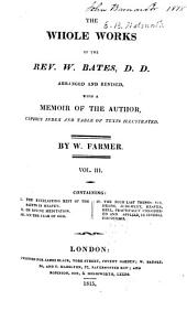 The Whole Works of the Rev. W. Bates: Volume 3
