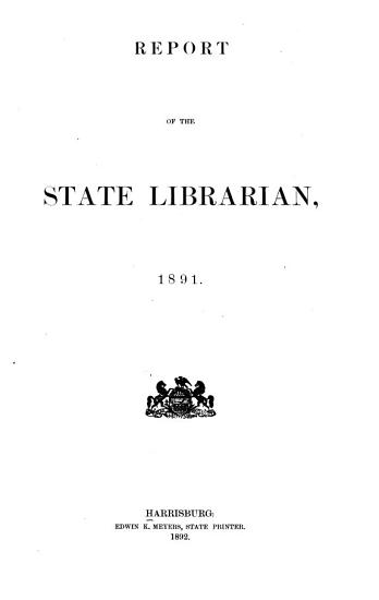 Report of State Librarian PDF