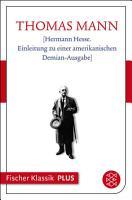 Hermann Hesse  Einleitung zu einer amerikanischen Demian Ausgabe  PDF