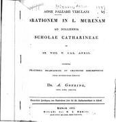 Aonii Palearii Verulani Orationem in L. Murenam ...