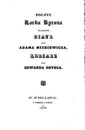 Poezye ¬Lorda ¬Byrona: tłumaczone Giaur przez Adama Mickiewicza, Korsarz przez Edwarda Odyńca