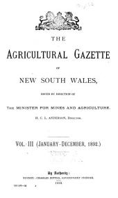 Agricultural Gazette of New South Wales: Volume 3, Issue 1