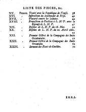 Essai d'une histoire des Provinces-Unies, pour l'année 1621 où la trêve finit & la guerre recommença avec l'Espagne: preuves de l'histoire des Provinces-Unies de l'an 1621