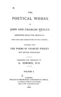 The Poetical Works of John and Charles Wesley PDF
