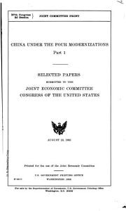 China Under the Four Modernizations PDF